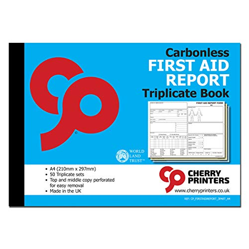 Cherry GDPR Pupil Accident Report//First Aid Book A5 50 Pages Pack of 20