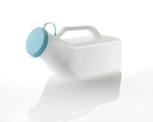 UML1000 Male Urinal Bottle, Secure Cap, Measuring Scale, Easy Grip Handle 1000ml from Cherry