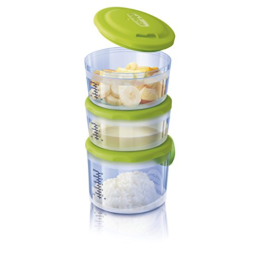 Chicco Easy Meal – Pack of Three Containers Porta Porridge Nest Among Them, 180 ml and 300 ml, 6 M + from Chicco