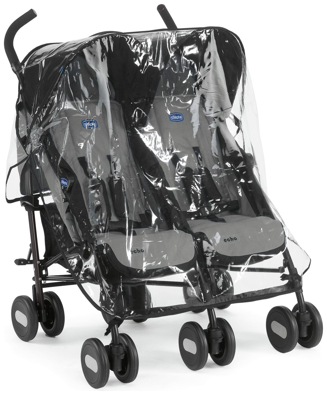 Chicco Echo Double Pushchair - Black Grey from Chicco