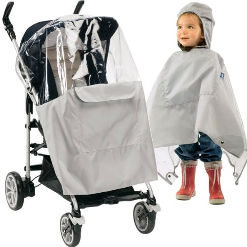 Chicco For Me 7060974470000 Rain Cover Poncho – Silver from Chicco