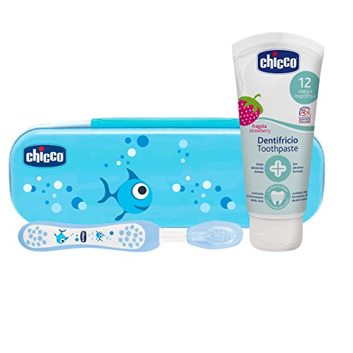 Chicco – Strawberry Toothpaste with Fluoride Dental Set blue from Chicco