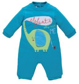 Sleepsuit with patello jersey 1 mese blue from Chicco