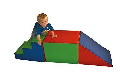 SLIDE + BLOCK + STEPS FOR TODDLERS with 2 years manufacturing warranty (without Safety Mats) from Child Evolution Ltd
