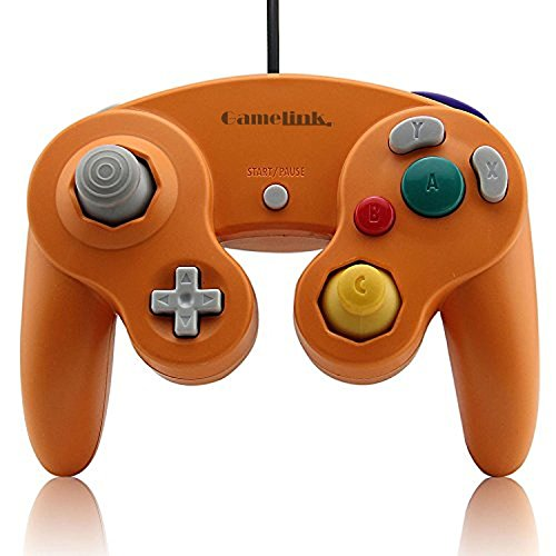 Childhood Classic USB Wired Controller Gamepad for PC and Mac NGC Orange from Childhood