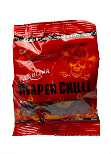 Genuine 100% Carolina Reaper Pods 10g - Worlds Hottest Chilli from Chilli Wizards
