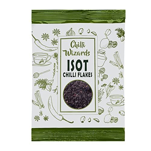 Syrian - Isot - Urfa - Kurdish Black Chilli Flakes 100g from Chilli Wizards