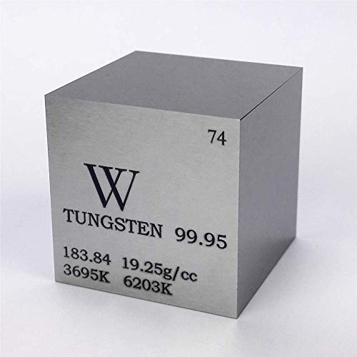 1 inch 25.4mm Tungsten Metal Cube 315g 99.95% Engraved Periodic Table W Specimen from Chinaium