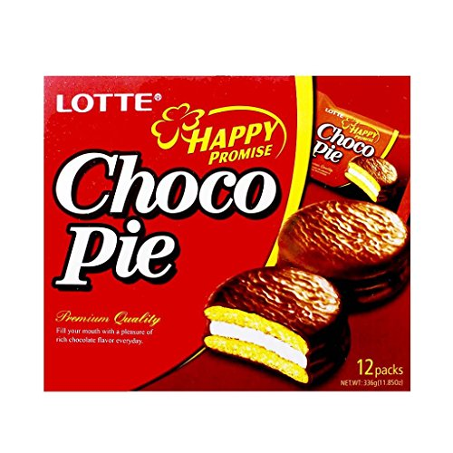 Lotte Choco Pie Premium Quality - Korean Snack (12 Pack)