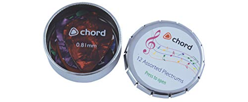 Chord | 12 Assorted Plectrums In A Tin from Chord