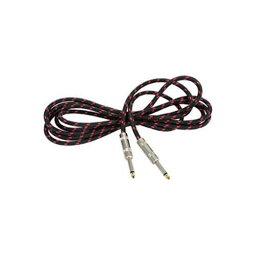 Chord | Premium Retro Guitar Lead | Black & Red 3.0m from Chord