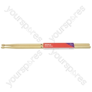 Maple Drum Sticks - 1 Pair - 2BW - M2BW from Chord