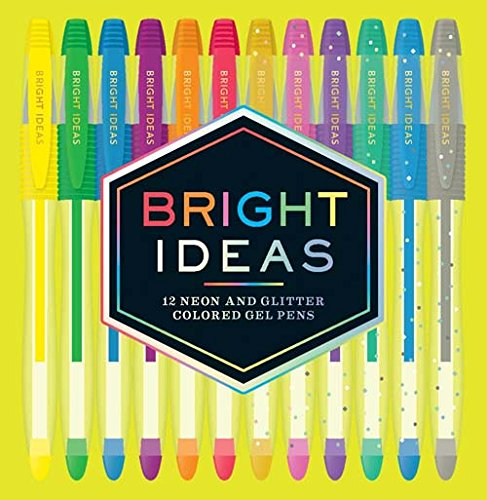Bright Ideas: 12 Neon and Glitter Colored Gel Pens: 12 Colored Pens from Chronicle Books