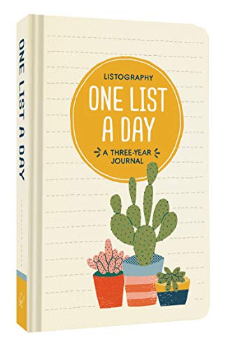 Listography: One List a Day: (List Journal, Book of Lists, Guided Journal) from Chronicle Books
