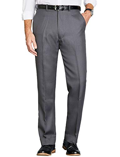 Chums Mens Stretch Waist Formal Smart Work Trouser Pants Grey 32W / 33L from Chums