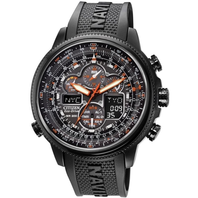 Mens Citizen Navihawk Alarm Chronograph Radio Controlled Watch from Citizen