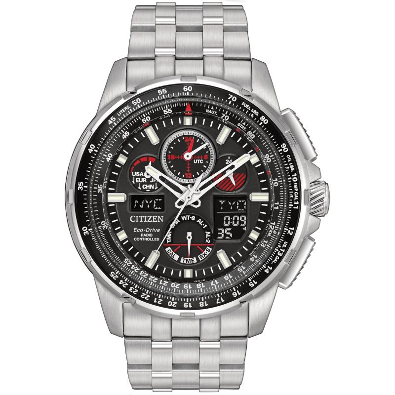 Mens Citizen Skyhawk A-T Alarm Chronograph Radio Controlled Eco-Drive Watch from Citizen