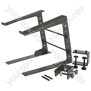 Compact Laptop Stand - (with Desk Clamps) - LS-01C from Citronic