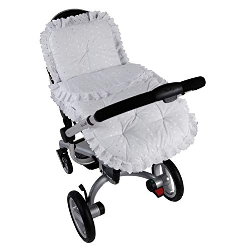 Clair de Lune Broderie Anglaise Continental Pram Set- White from Clair de Lune