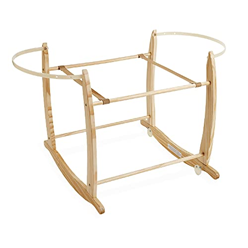 Clair de Lune Deluxe Rocking Moses Basket Stand (Natural) from Clair de Lune