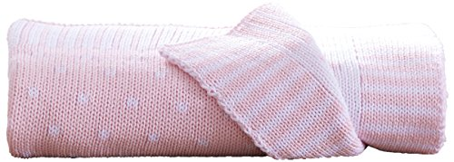 Clair de Lune Double Knit Spotted Blanket (Pink) from Clair de Lune