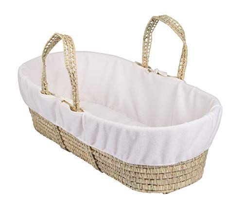 Clair de Lune Fleece Liner/Dressing for Palm and Wicker Moses Baskets (Cream) from Clair de Lune