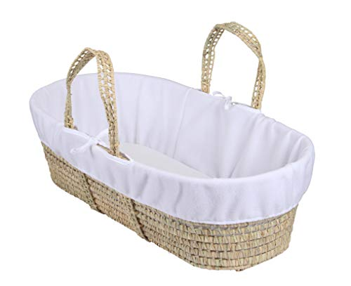 Clair de Lune Fleece Liner/Dressing for Palm and Wicker Moses Baskets (White) from Clair de Lune