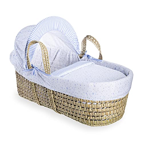 Clair de Lune Palm Moses Basket (Blue, Stars and Stripes) from Clair de Lune