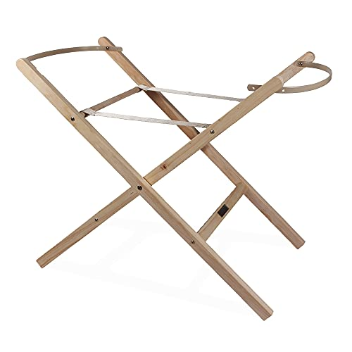 Clair de Lune Self Assembly Natural Moses Basket Folding Stand from Clair de Lune