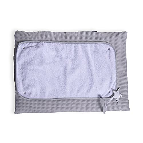 Clair de Lune Grey Silver Lining Roly Poly Travel and Change Mat from Clair de Lune
