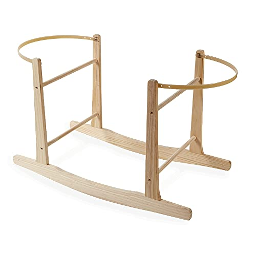 Clair de Lune Wooden Rocking Moses Basket Stand (Natural) from Clair de Lune