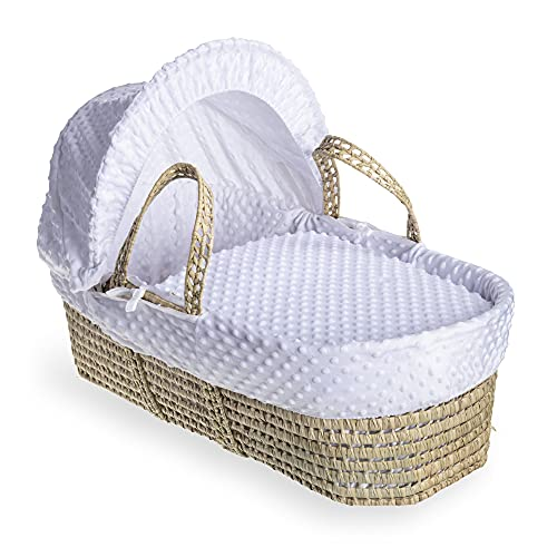 Dimple Palm Moses Basket - White from Clair de Lune