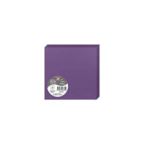 Clairefontaine Pollen Folded Card, 135 x 135 mm, 210 g - Intensive Lilac, Pack of 25 from Clairefontaine