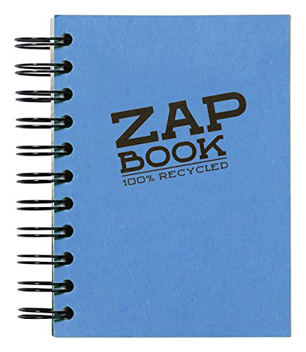 Clairefontaine Zap Book Sketchbook, Wirebound, 10.5x14.8cm, Assorted from Clairefontaine