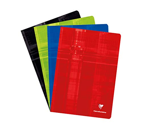 Clairefontaine 31244C Staple Bound Notebooks, A4, Squared, 90g, 40 Sheets - Assorted Colours, Pack of 10 from Clairefontaine
