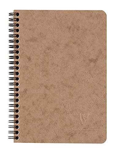 Clairefontaine 'Age Bag' Wirebound Notebook, A5, 120 Pages, Lined - Brown from Clairefontaine
