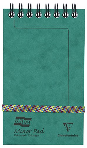 Clairefontaine 'Europa' Minor Pad, Lined Notepad, 120 Pages - Green from Clairefontaine