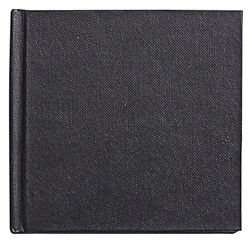 Clairefontaine Goldline Casebound Square Pad, 10 x 10 cm, 140 g, 64 White Sheets - Black Cover from Clairefontaine