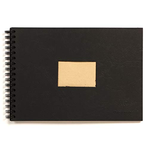 Clairefontaine Kraft Wirebound Pad, 90 g, 14.8 x 21 cm, 60 sheets - Black Cover from Clairefontaine