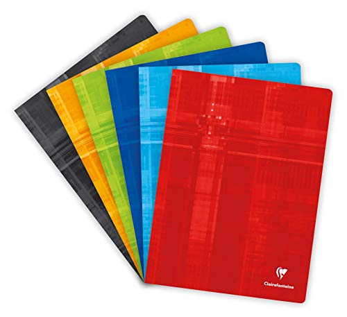 Clairefontaine Metric Notebook - Large Square Ruled - 24 x 22 cm - 192 Pages - Assorted Colours from Clairefontaine