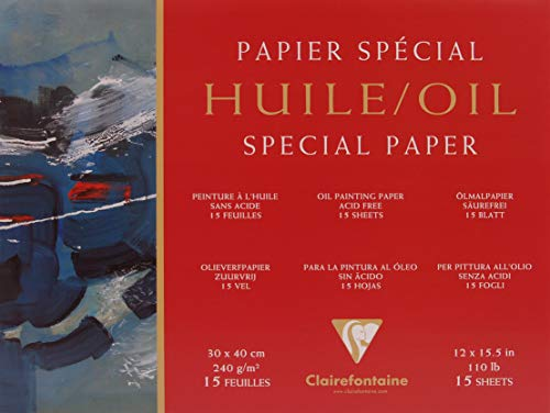Clairefontaine Oil Paper Pad, 240 g, 30 x 40 cm, 15 Sheets from Clairefontaine
