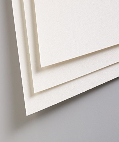 Clairefontaine PastelMat 50 x 70 cm Sheets, 360 g, White, 5 Sheets from Clairefontaine