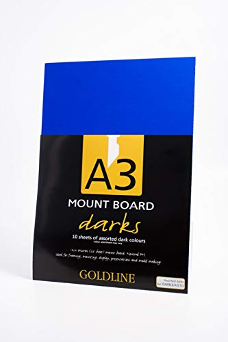 Clairefontaine Goldline Mount Board, A3, 750 g, 1.25 mm Thick - Assorted Light Colours, Pack of 10 from Clairefontaine