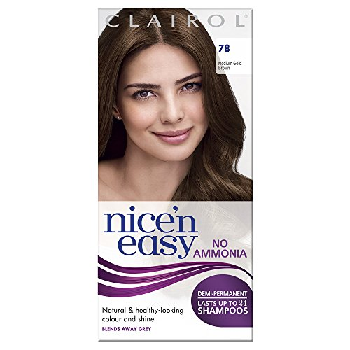 Clairol Nice'n Easy Semi-Permanent Hair Dye No Ammonia 78 Medium Golden Brown from Clairol