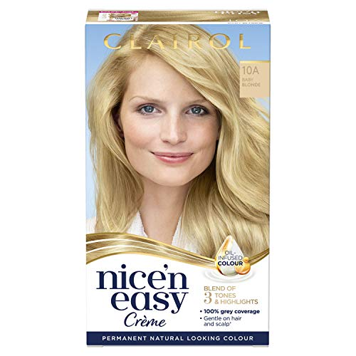 Clairol Nice'n Easy Crème, Natural Looking Oil Infused Permanent Hair Dye, 10A Baby Blonde from Clairol