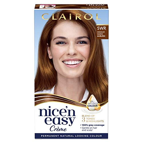 Clairol Nice'n Easy Crème, Natural Looking Oil Infused Permanent Hair Dye, 5WR Medium Warm Auburn from Clairol