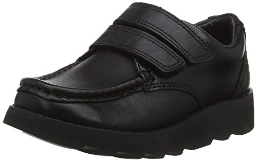 Clarks Boys' Crown Tate Derbys, Black Leather, 10 UK Child from Clarks