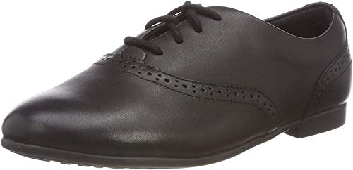 Clarks Jules Walk, Girls' Brogues, Black (Black Leather),  1.5 UK, 33.5 EU from Clarks