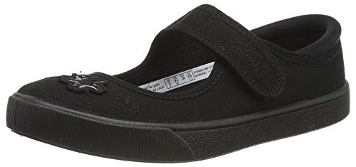 Clarks Hopper Go Kid Textile Plimsolls in Black Standard Fit Size 11 from Clarks