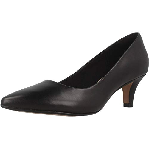 Clarks Women's Linvale Jerica Closed-Toe Pumps, Black (Black Leather), 7 UK (41 EU) from Clarks